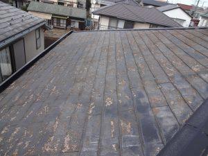 剥離した屋根材