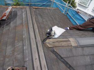 屋根下地解体