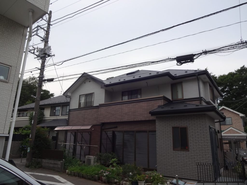 横浜市神奈川区での外壁の塗り替えを行いました