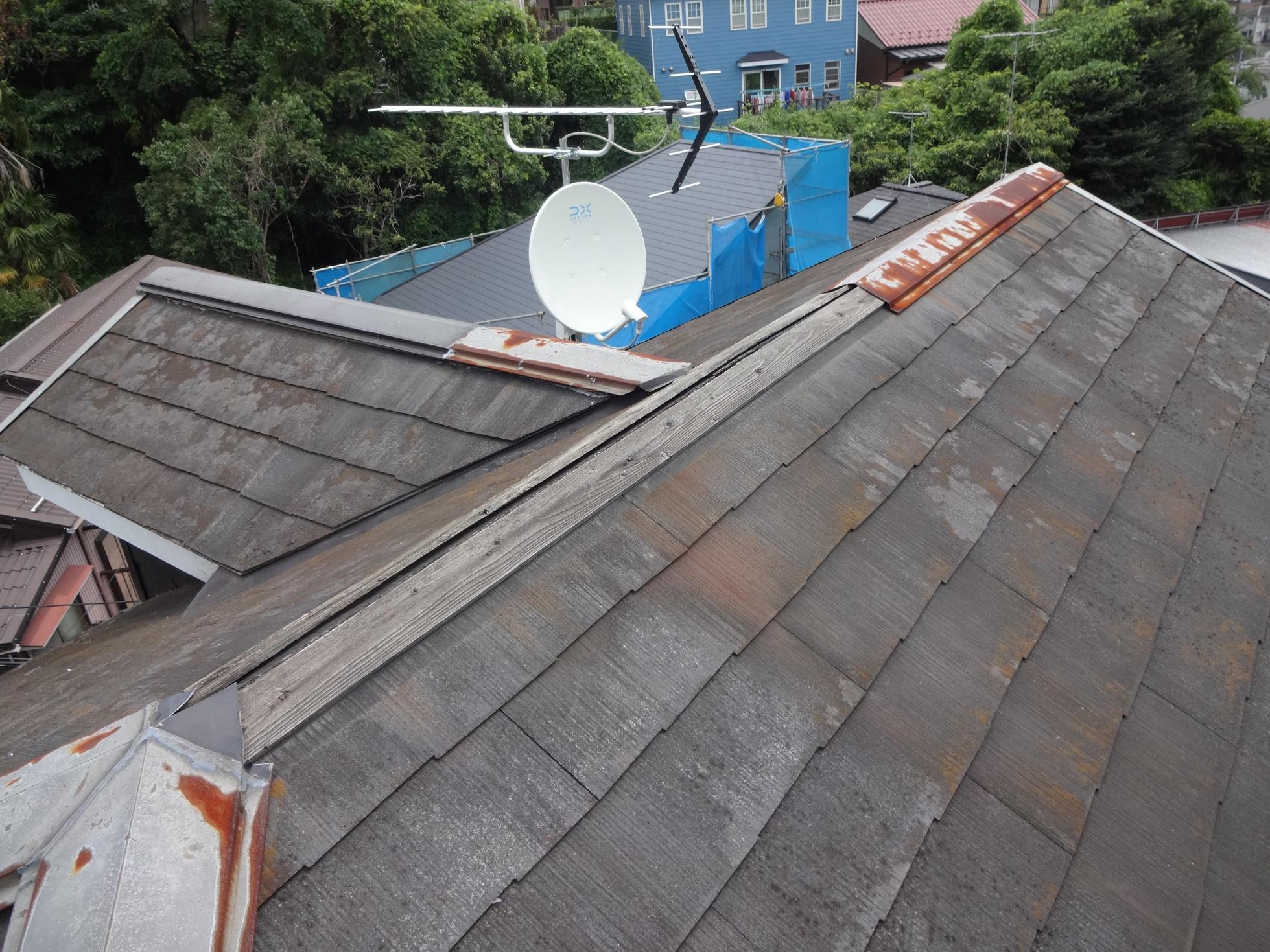 棟板金の台風被害