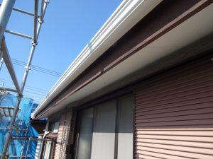 川崎市中原区の雨樋交換工事