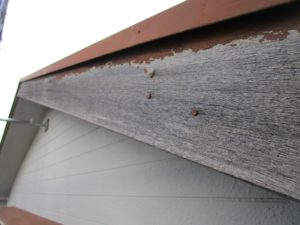 破風板の劣化(木製)