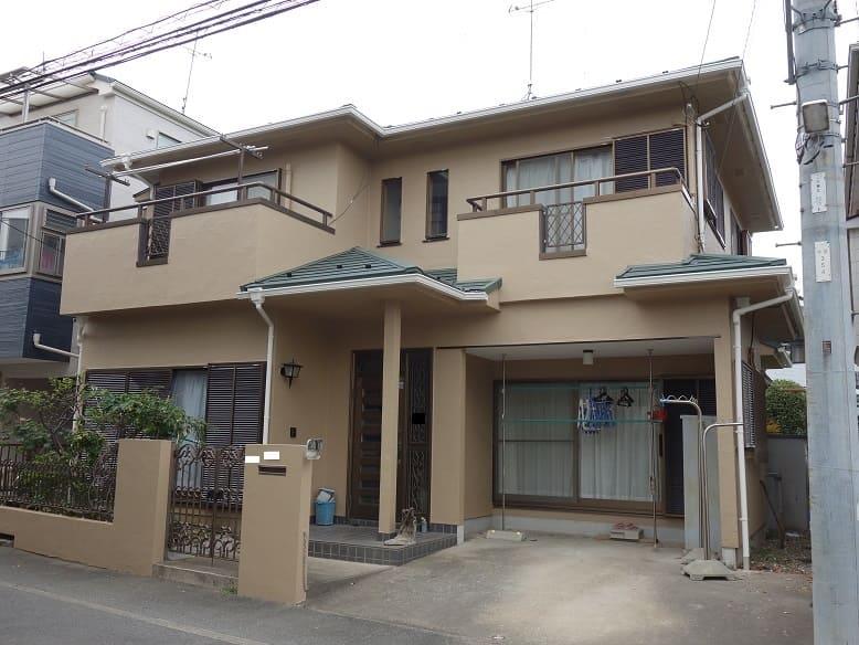 川崎市中原区|モルタル壁塗装の施工事例