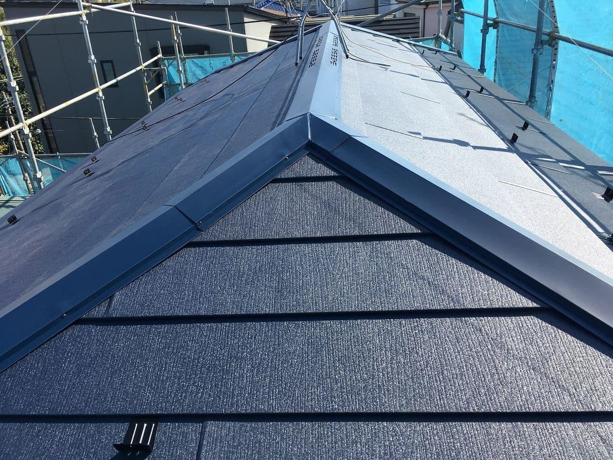 川崎市中原区で屋根カバー工法(重ね葺き)を行いました