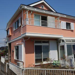 横浜市緑区|モルタル壁塗装(パーフェクトトップ)の施工事例