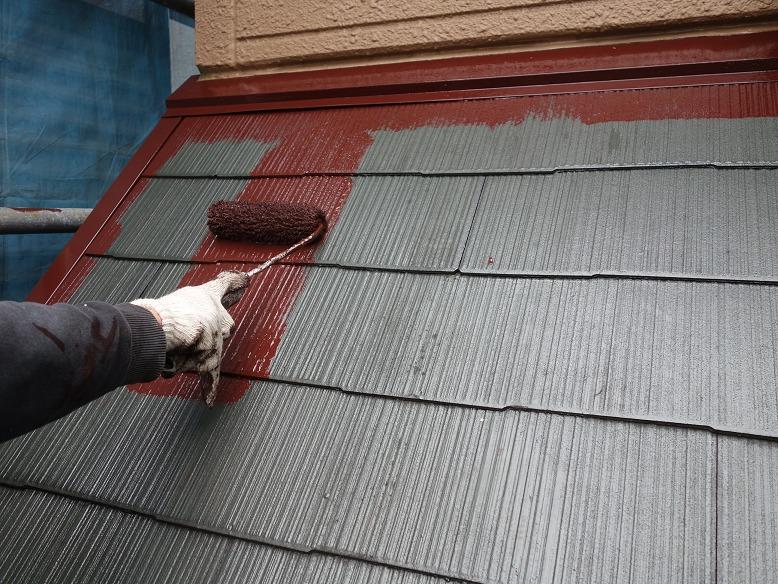 雨押え板金の塗装