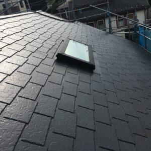 横浜市磯子区|屋根塗装工事(太陽光パネル付き)の施工事例