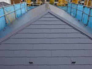 塗装された屋根