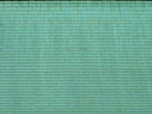 緑青色の銅板