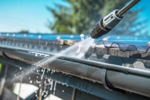 雨樋の水洗い