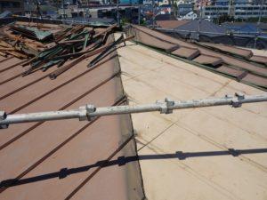 瓦棒屋根の解体撤去