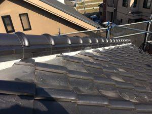 大屋根漆喰補修仕上がり