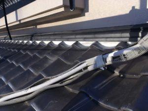 下屋根漆喰補修仕上がり
