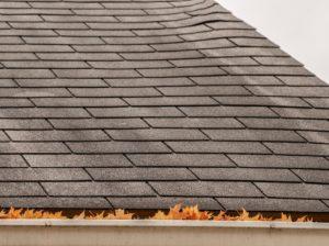 変褐色したシングル屋根