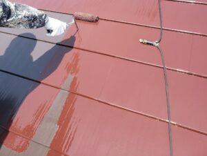 ガルバリウム鋼板中塗り