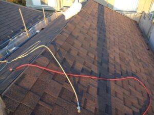 屋根材張り