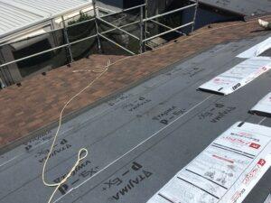 屋根材本張り