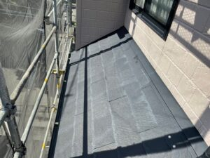 ベランダ側屋根施工前