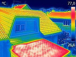 屋根赤外線サーモ